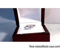 Diamond Solitaire 18K White Gold Ring