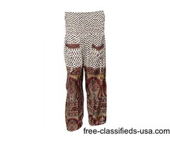 Women's Baggy Dance Brown/white Yoga Harem Pants Onesize