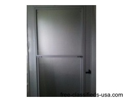 Beautiful White Aluminium Window Screen Door