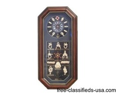 Knot Board Vertical Shadowbox Clock