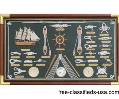 Ships Guide Knot Board Clock and Instruments