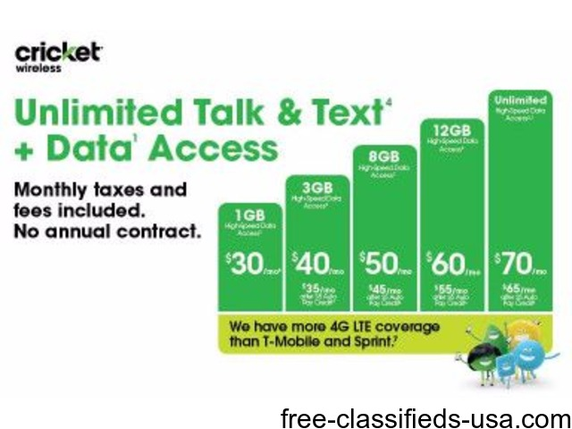 Our data plans just got better here at Cricket Wireless