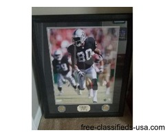 Jerry Rice Framed Autograph 4/80