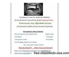 Shoe/purse repair and cleaning