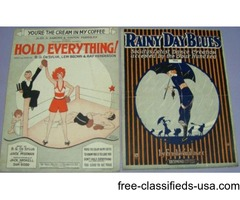 2 ABSOLUTELY FABULOUS PIECES OF ROARING TWENTIES SHEET MUSIC