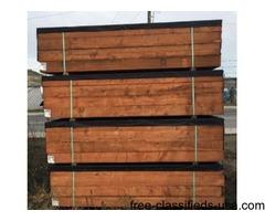 6x6x8 6x6x12 economy treated landscape timbers
