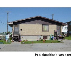 This is a 1 bedroom, 1 bath unit located on the lower level of a 6 plex