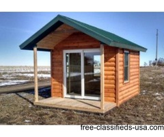 "10x14 cabin from ""Custom Cabins by Dan"", Tiny cabin, hunting or fishing cabin"