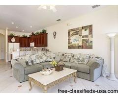 6 BR Lakefront vacation Villa in Farmosa Garden Kissimmee, Orlando
