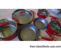 Emeril lagasse Aluminum Quantanium Cookware Set.