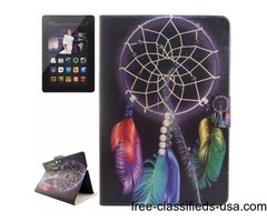 For Kindle Fire HDX Windbell Patterns Flip Leather Case with Holder & Card Slots
