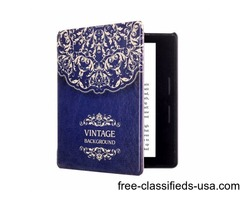 For Amazon Kindle Oasis Flower Pattern Flip Leather Case