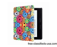For Amazon Kindle Oasis Corkscrew Pattern Flip Leather Case