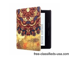 For Amazon Kindle Oasis Tribe Pattern Flip Leather Case