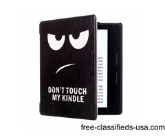 For Amazon Kindle Oasis Eyes Pattern Flip Leather Case