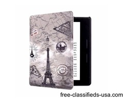 For Amazon Kindle Oasis Retro Style Pattern Flip Leather Case