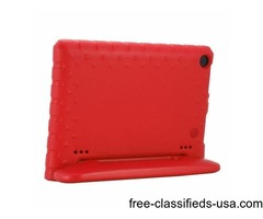 For Amazon Fire HD 8 (2016) EVA Bumper Red Case with Handle & Holder