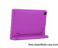 For Amazon Fire HD 8 (2016) EVA Bumper Purple Case with Handle & Holder