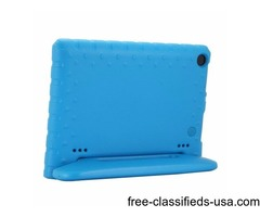 For Amazon Fire HD 8 (2016) EVA Bumper Blue Case with Handle & Holder