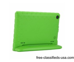 For Amazon Fire HD 8 (2016) EVA Bumper Green Case with Handle & Holder