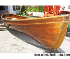 1901 16ft St Lawrence skiff wooden lapstreak