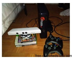 Xbox 360 Slim 5 games and Kinect
