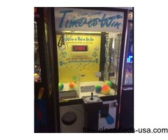 "42"" ""TIME TO WIN"" SMART IND. CRANE/ CLAW ARCADE GAME MACHINE!"
