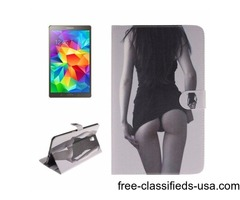 For Tab S 8.4 Sexy Girl Pattern Leather Case with Holder, Card Slots & Wallet