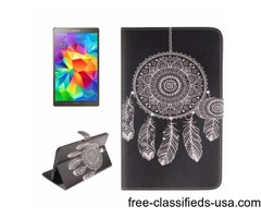 For Tab S 8.4 Windbell Pattern Leather Case with Holder, Card Slots & Wallet