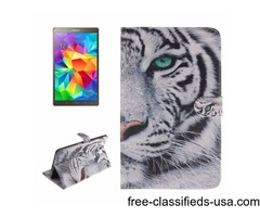 For Tab S 8.4 Tiger Pattern Leather Case with Holder, Card Slots & Wallet