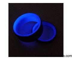 Carbon Fiber Glow in the Dark Rings -Grey/Purple