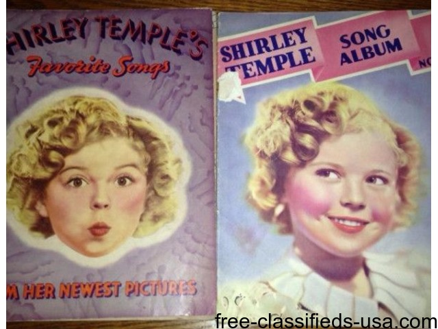 Shirley Temple Song Books | free-classifieds-usa.com