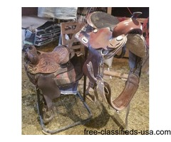 Horse Saddles, stand and equipment