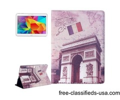 For Tab S 10.5 Triumphal Arch Pattern Flip Leather Case with Holder