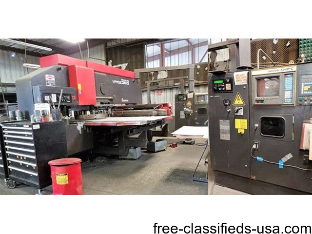 Used Amada Vipros 568 CNC 55 Ton Turret Punch for sale