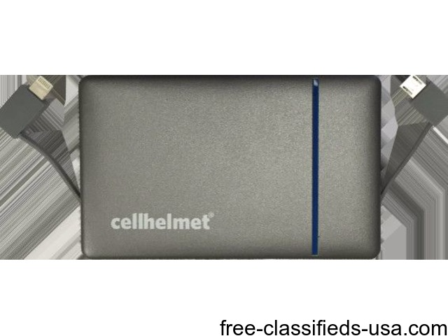 Cell Helmet Power Bank only at Cricket Wireless in Adrian