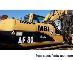 IMT AF80 2003 Drill Rig w Rock/Dirt Augers, Core Barrels & Kelly Bar Drive Adapter