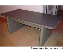 METAL OFFICE TABLE DESK