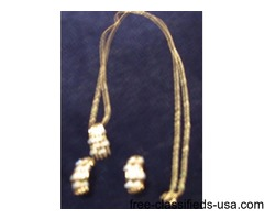 Dimond& Gold Set(Necklace & Earrings)