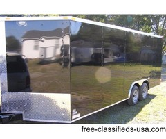 8.5 ft by20 ft BLACK EXT. Landscaping Trailer w/36 in. RV Side Door & Drings