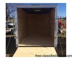 Lark Enclosed Trailer 6x10' V-Nose &Ramp Radial Tires