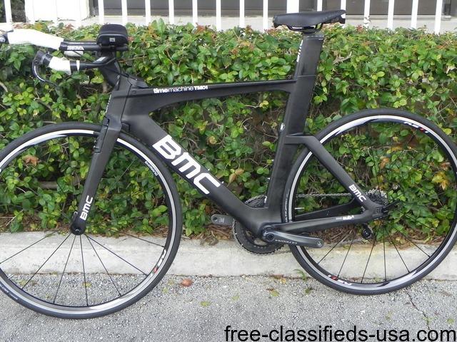 4202bb8e630 BMC Time Machine TM01 Ultegra Triathlon Carbon Bike size M Short ...