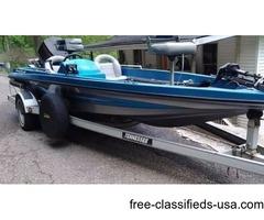 1990 Randall craft bass boat