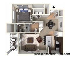 1 Bedroom 1 Bathroom 828 sq. ft.