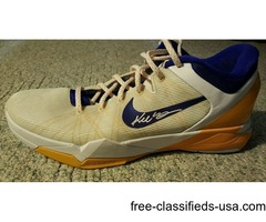 Game used Kobe Bryant autographed shoes