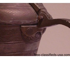 Antique c. 1860-1920 Islamic Arabic Bedouin hammered Dallah Coffee Pot