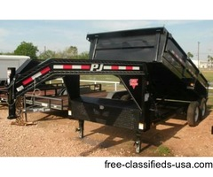 New PJ Gooseneck Dump Trailer - Rio Grande Valley