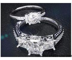 Buy Modern Blue Sapphire Engagement Rings