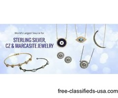 Purchase Decorative Sterling Silver Necklaces Wholesale Rates at P&K Jewelry