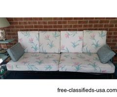 Rod Iron sofa & cushions